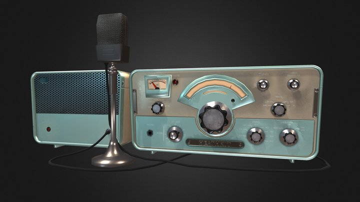 50's Radio Transmitter 3D Model