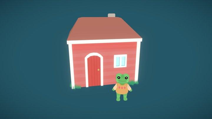 A Frog's Home 3D Model