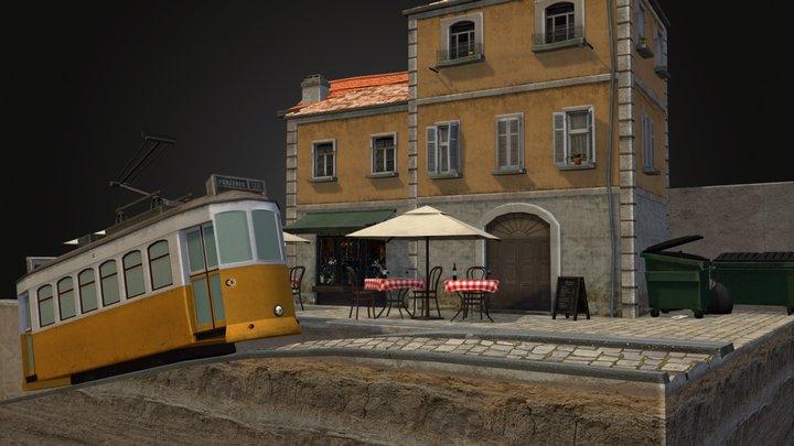 Cityscene Lisbon 3D Model