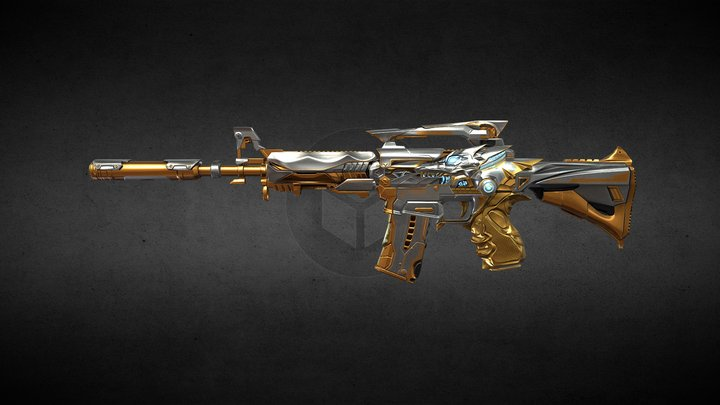 CrossFire's M4A1-S IRON WOLF 3D Model