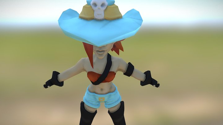 Chibi Pirate for Global Game Jam 2017 3D Model