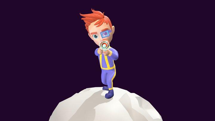 Futuristic Stylized Character 3D Model