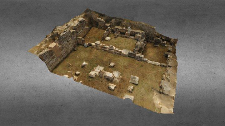 Basílica romana de Segóbriga - Zona de la Aedes 3D Model