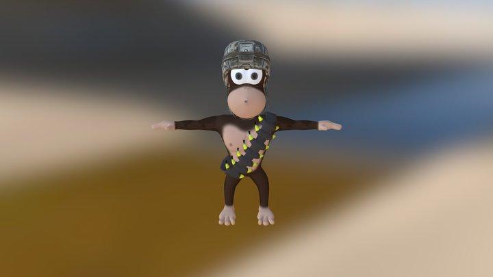 Macaco da ilha 3D Model