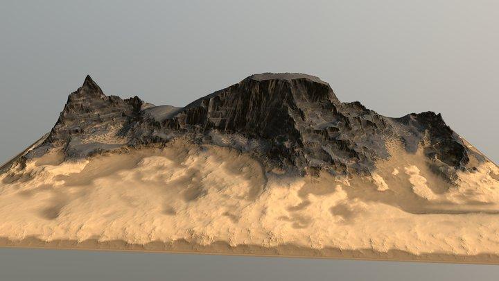 FREE Sandy Rock Hill 3D Model