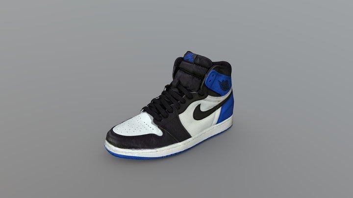 Nike Air Jordan 1 Sneaker (Fragment Design) 3D Model
