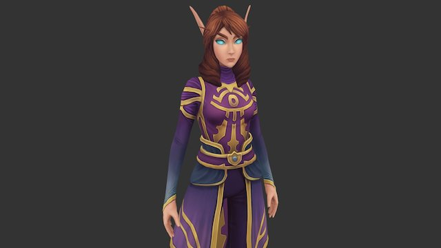 Kirin Tor High Elf 3D Model