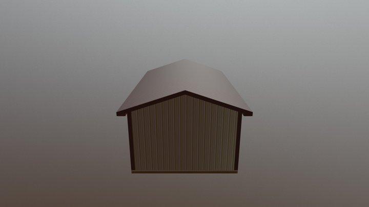 Pole Barn - 14 x 24 x 8 x 4:12 3D Model