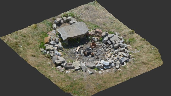 3D model ognjišča / 3D model fire pit 3D Model