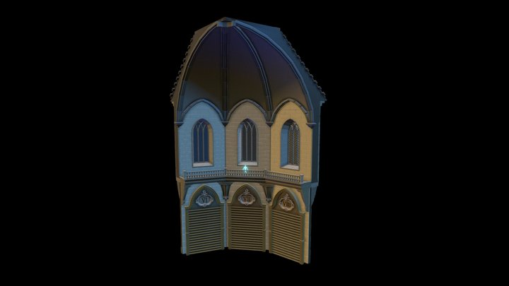 Tower sector (highpoly) 3D Model