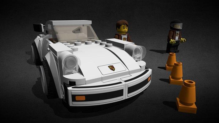 LEGO 1974 PORSCHE 911 TURBO 3.0 - 75895 3D Model