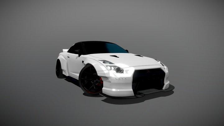 Nissan GTR (R35) - Stance Rocket Bunny 3D Model