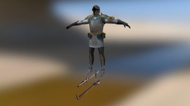 The Steel Mercenary 3D Model