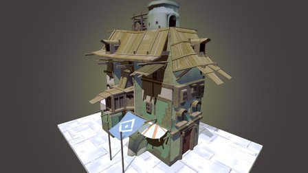 Stacked Building 3D Model