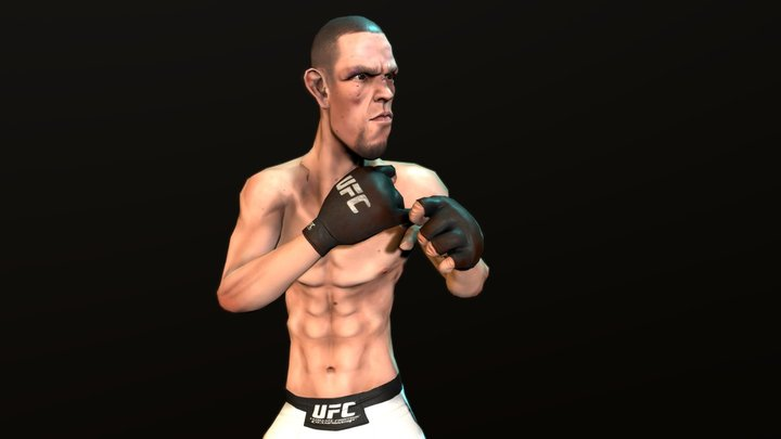 Nate Diaz Caricature (Fan Art) Game Character 3D Model