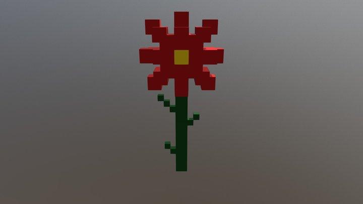 Flor Roja 3D Model