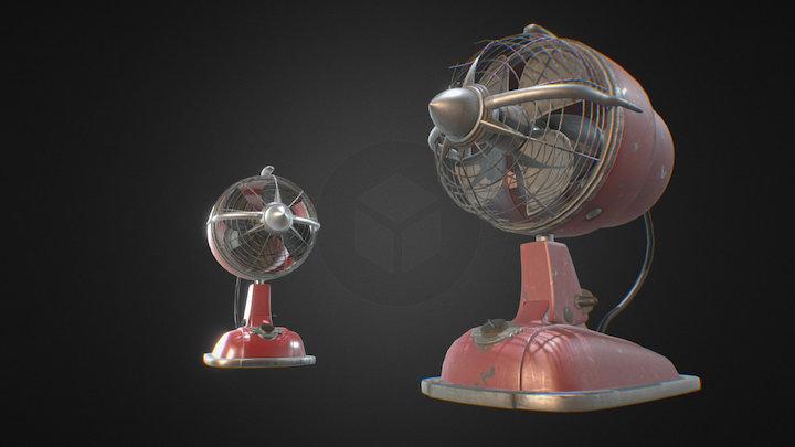 Retro Fan - old&clean model 3D Model