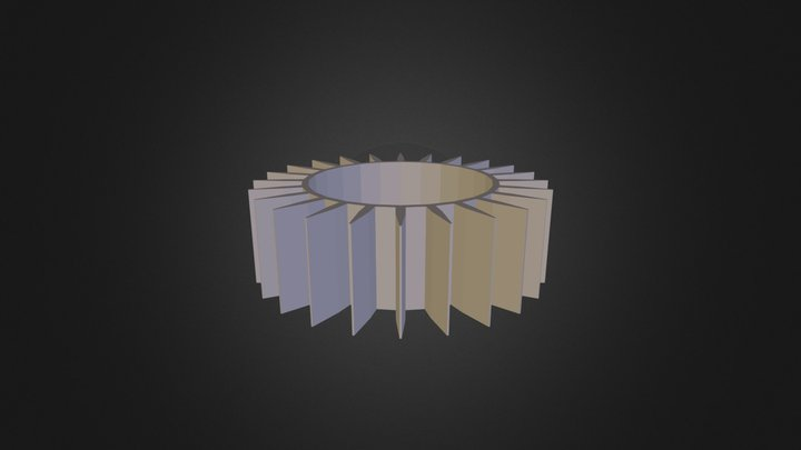 Pieza 24 Rectas 1cm 3D Model