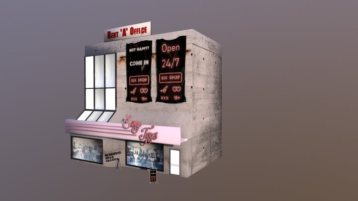 Erotic Store (Sexy Toys) 3D Model