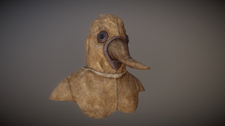 Mask of a plague doctor - 17th century 3D Model