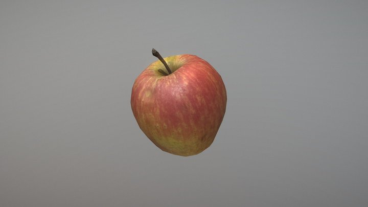 Low Poly Apple Game Ready 3D Model