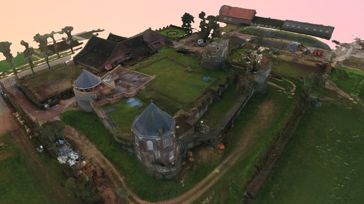 Pix4D 3D map Castle cloud render 3D Model