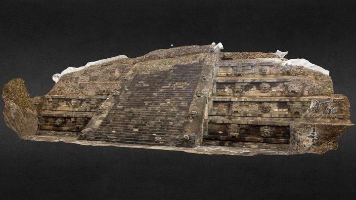 Templo de Quetzalcóatl 3D Model