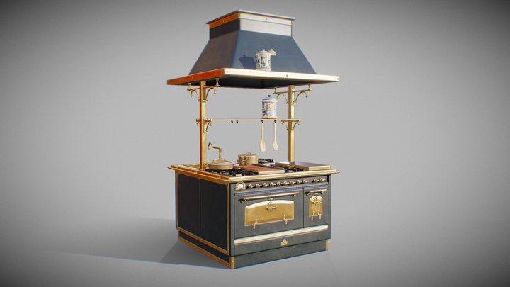 Antique Kitchen 3D Model