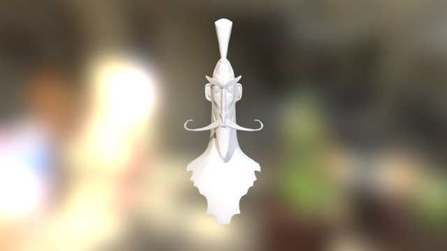Old Samurai 3D Model