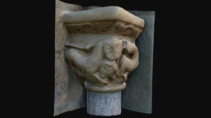 Assumpció de Coll. Capitel izquierdo 3D Model