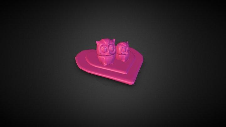Owl Love 3D Model