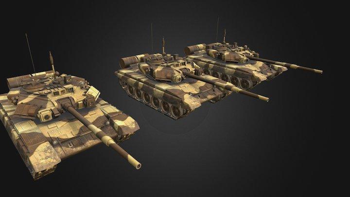 t-90a(Elements_of_war) 3D Model