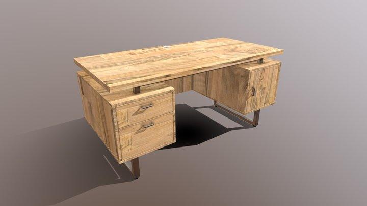 Modern Desk Market 3D Model