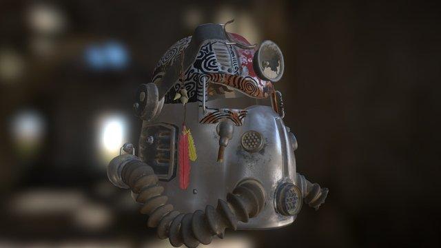 T-51b Helmet Tribal 3D Model