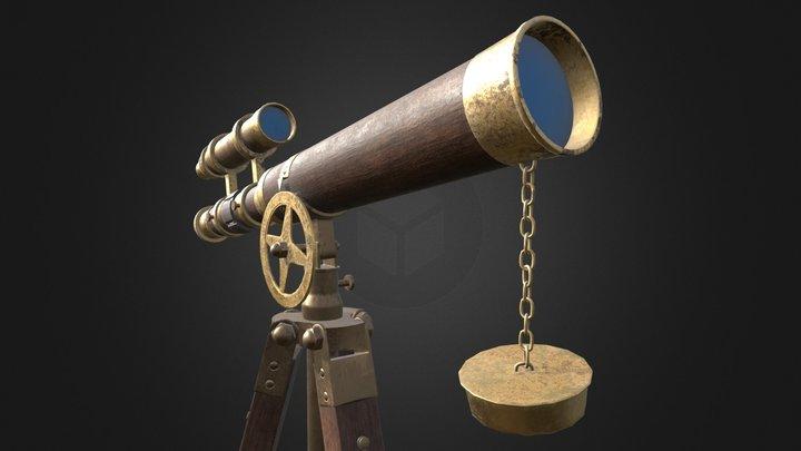 PBR Telescope 3D Model