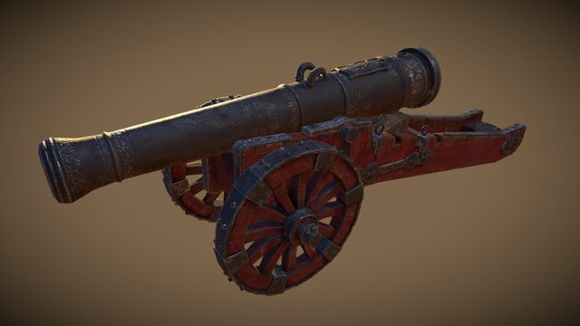 Cannon V2 3D Model