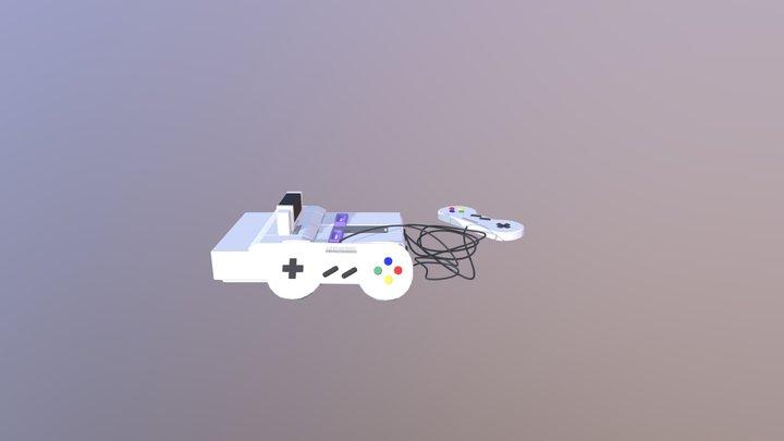 Super Nintendo 3D Model
