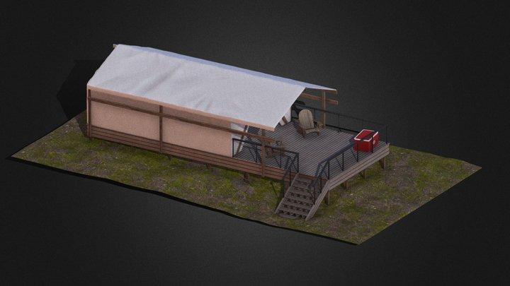 Robinson Site Tent - Metal Rail 3D Model