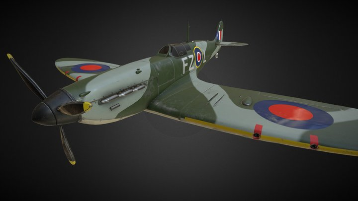 Spit Fire MKII 3D Model