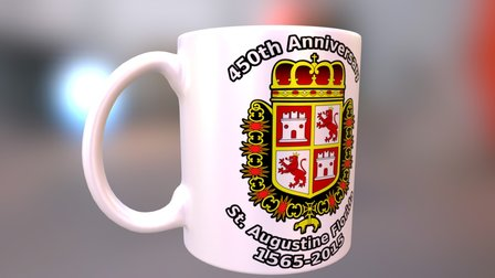 St. Augustine Florida's 450th Anniversary Mug 3D Model
