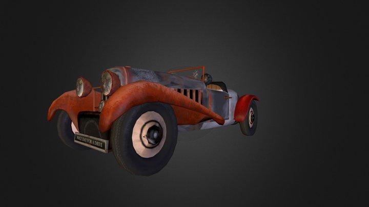 voiture_steampunk 3D Model