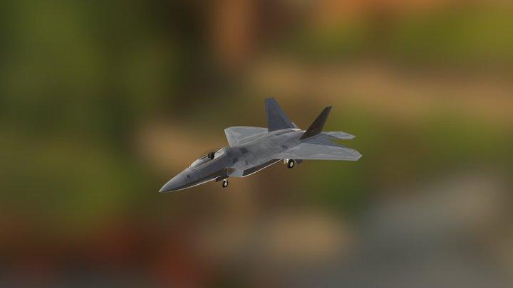 F22 3D Model