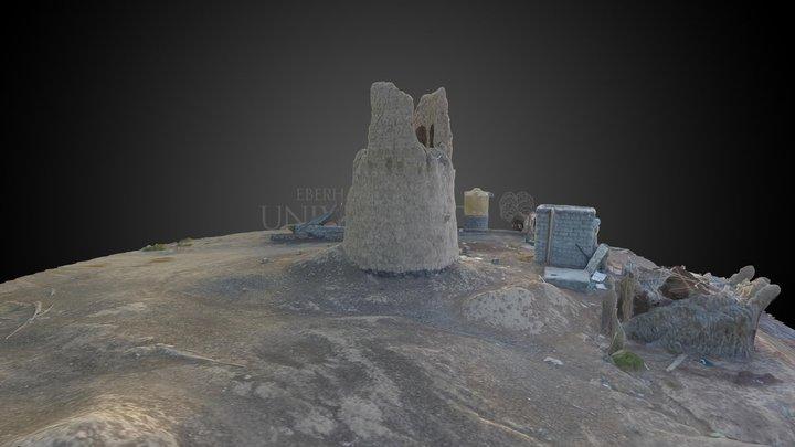 Mudbrick watchtower in Al Khashaba 3D Model