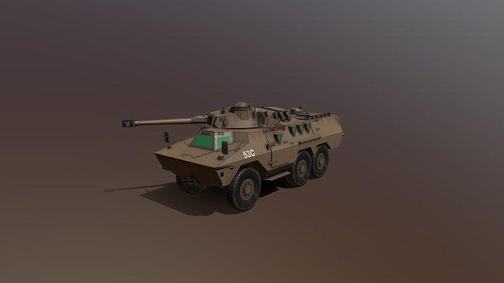 Ratel-90 (SADF) 3D Model