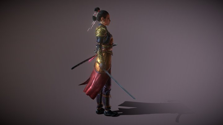 Nyra Woman Warrior 3D Model