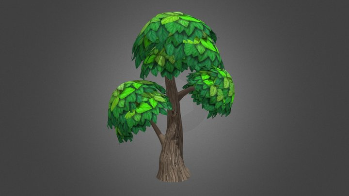 Handpainted Tree [Smoothed] 3D Model