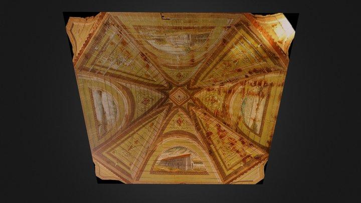 Dauis Convento Ceiling Paintings 3D Model