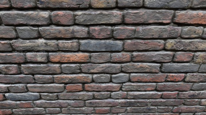 Brick wall United Kingdom 3D Model