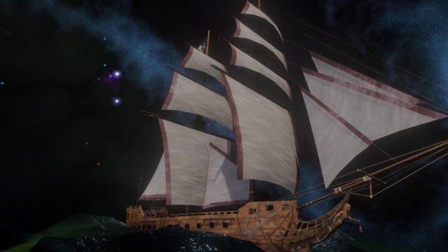 The Siren's Light Pirate Ship 3D Model