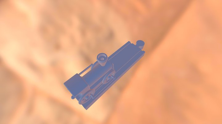 Model Train+Track 3D Model